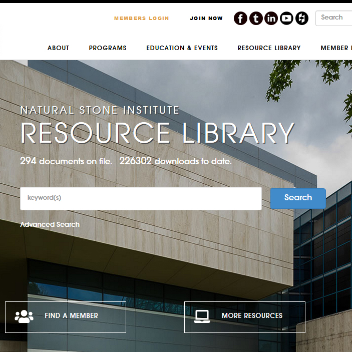 Natural Stone Institute - Stone Industry Resources From The