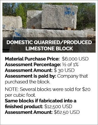 Domestic Quarried/Produced Limestone Block