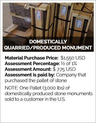 Domestically Quarried/Produced Monument