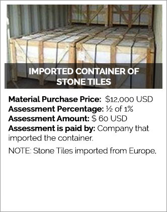 Imported Containers of Stone Tiles