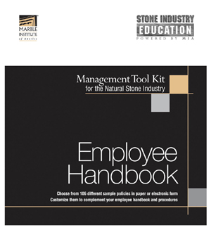Natural Stone Institute Employee Handbook Toolkit Now Free To MIA - Construction company employee handbook
