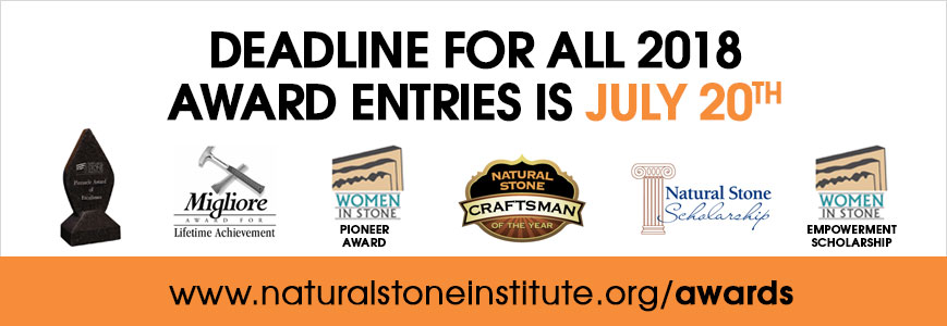 Natural Stone Institute Awards Deadline is July 20